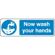 Mandatory Safety Sign - Now Wash Hands 113